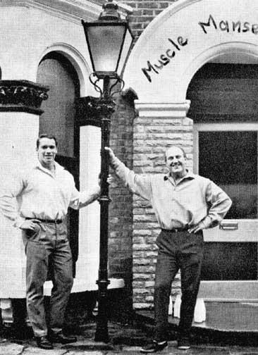 Wag Bennett and Arnold Schwarzenegger