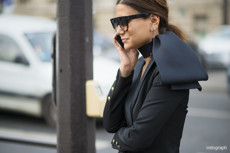 Christine Centenera after MiuMiu Paris Fashion Week 2013-14 Fall Winter PFW