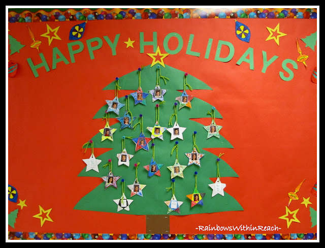 """Happy Holidays"" Bulletin Board via RainbowsWithinReach"