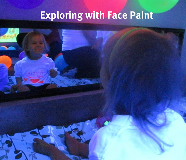 face painting blacklight play