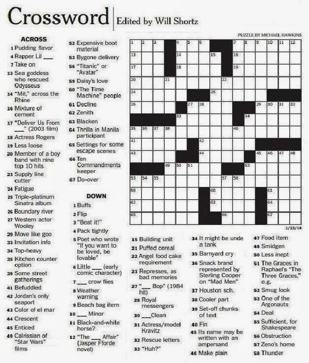 Bright image with regard to ny times crossword printable