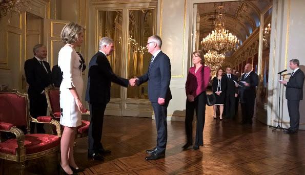 Belgian Royals Held A Reception At The Royal Palace