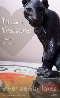 Finds & Treasures: Panther Bookend via www.whatmandyloves.com