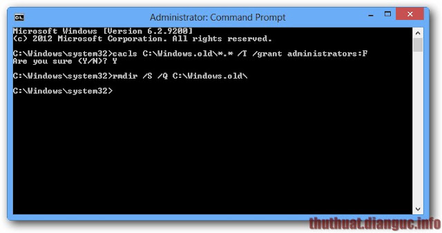 Cách xoá thư mục Windows.old trên Windows 7, 8.1 và 10
