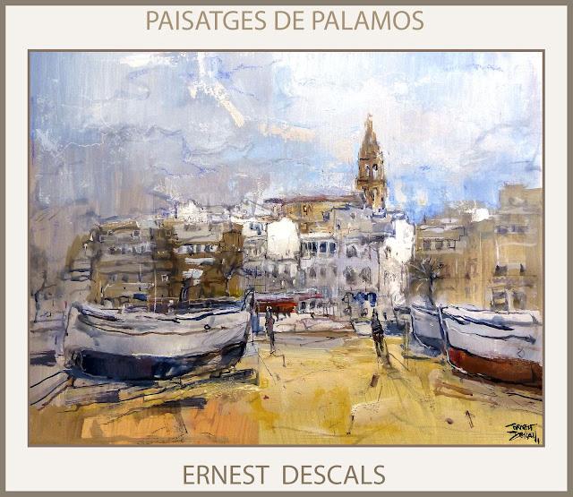 PALAMOS-PINTURA-PAISATGES-CATALUNYA-GIRONA-MARINA-QUADRES-PINTOR-ERNEST DESCALS-