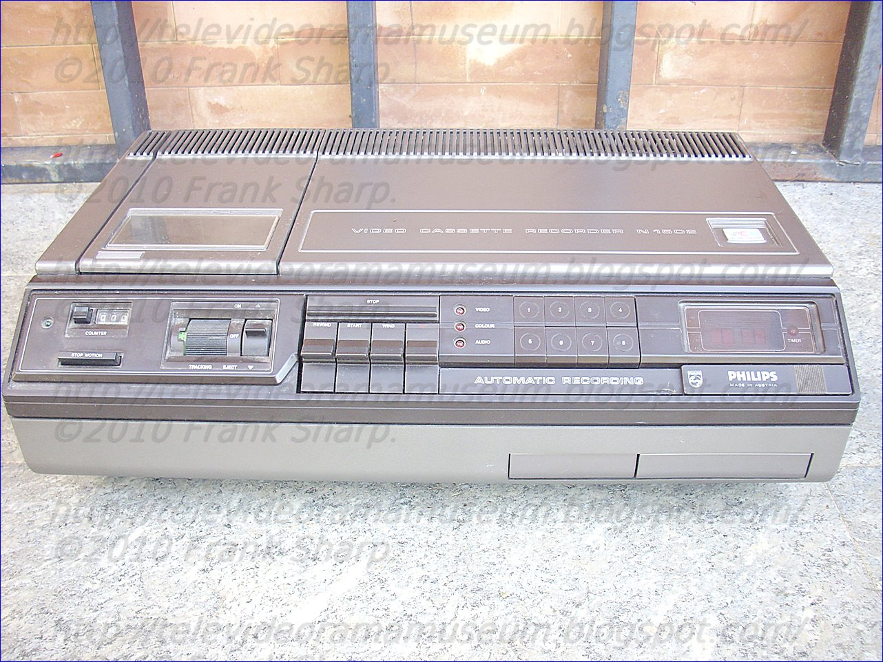 Tele Video Rama Museum !: PHILIPS VIDEO CASSETTE RECORDER VCR N1502 ...