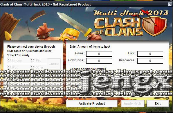 Hacks and cheats download clash of clans cheat tool for Gardening tools 94 cheats