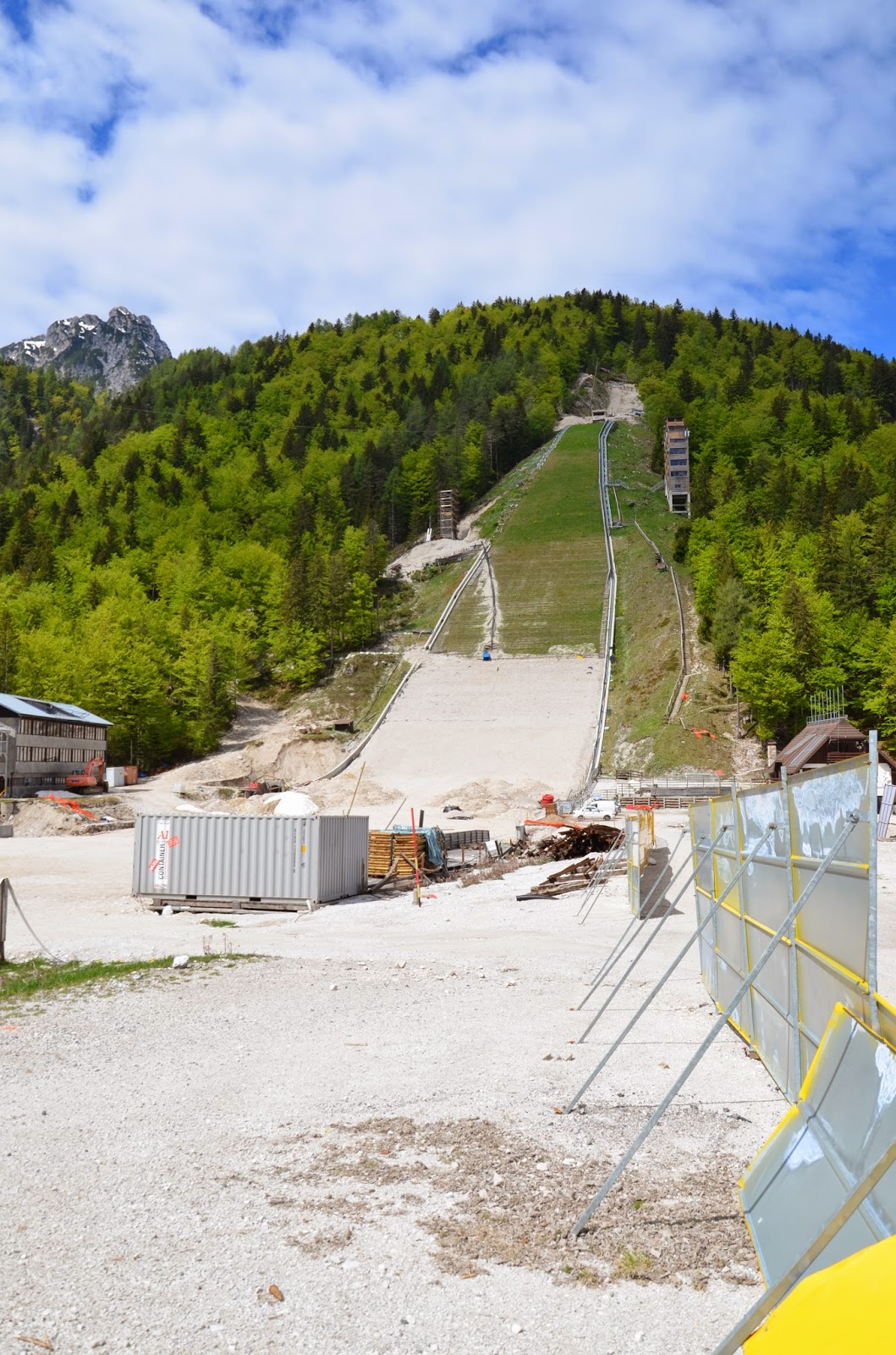 Planica Ski Jump Center construction site