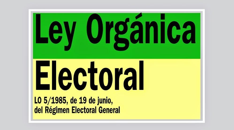 Ley organica electoral