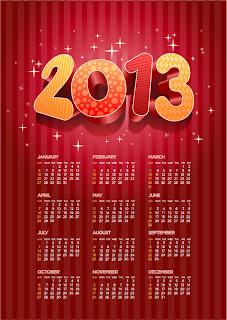 新年のカレンダー テンプレート 2013 new year calendar templates イラスト素材2
