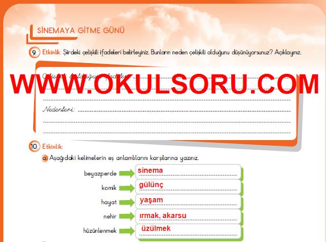5.Sınıf Türkçe MEB Yayınları Çalışma Kitabı 193.Sayfa Cevapları