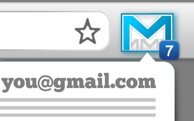 how to show the count of unread gmail on pc