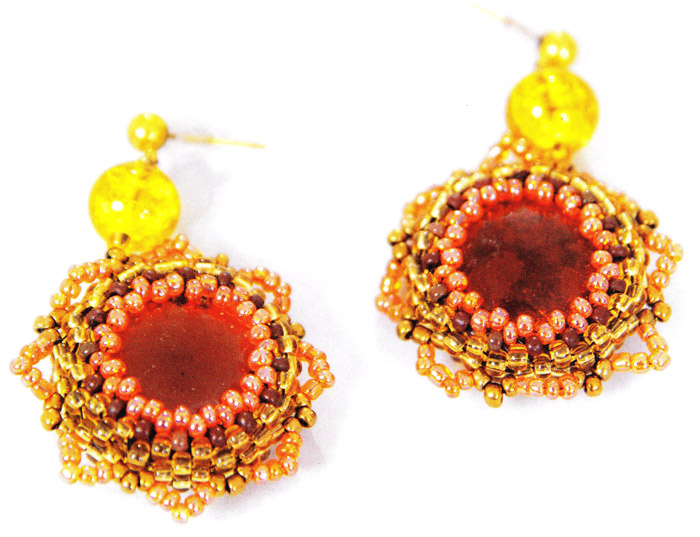 Серьги из бисера.  Earrings from beads