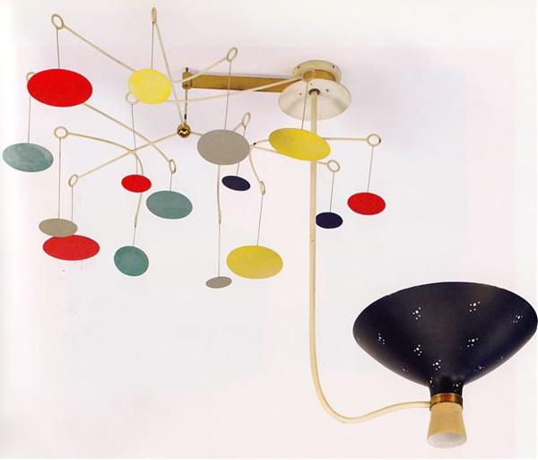 Farbenfrohe Leuchten im 50er Jahre Stil - Victor Gruen Pendelleuchte