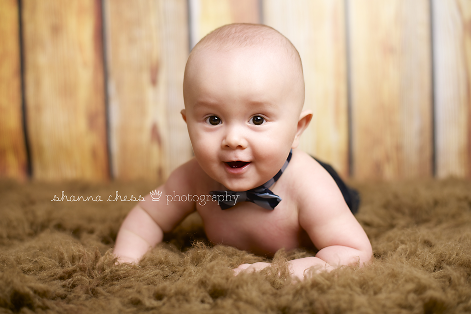 Eugene, OR Baby Photography bowtie