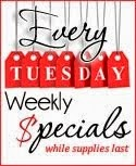 Weekly Specials Posted Tuesday