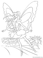 Mewarnai Barbie Fairytopia