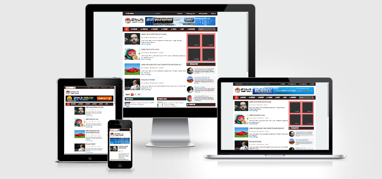 Bie Revolutions Blogger Template
