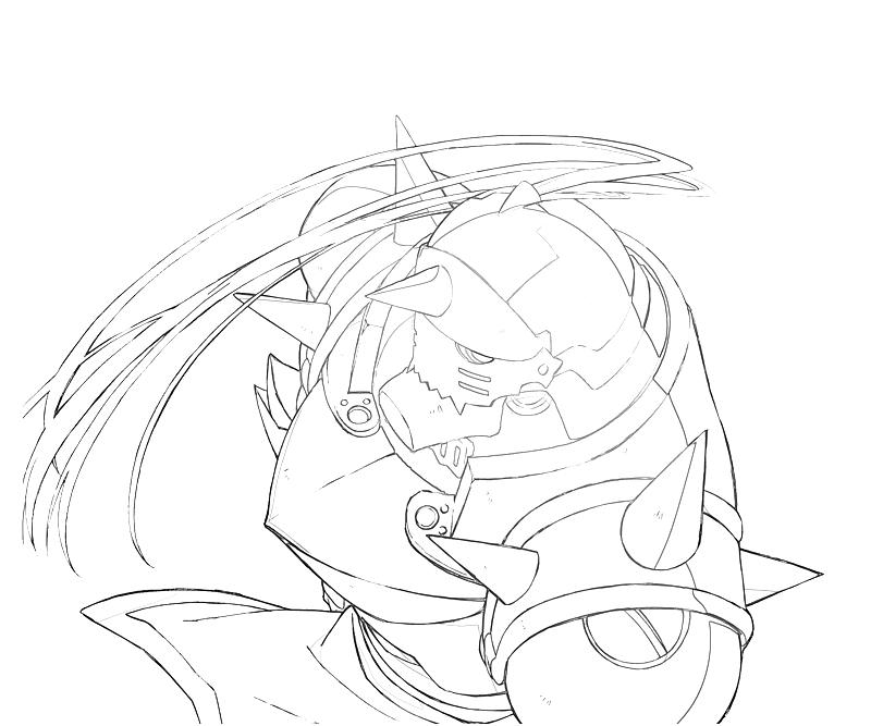 Printable Alphonse Elric Character Coloring Pages title=