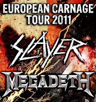 Slayer Megadth European Carnage coruña