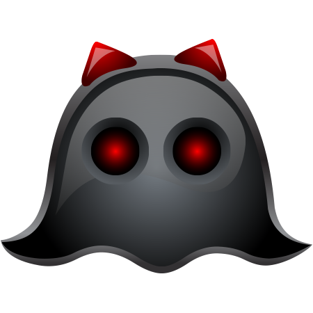 Black ghost icon