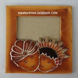 kode: FF-073, Foto Frame Etnik desain Pernikahan Pengantin adat Jawa