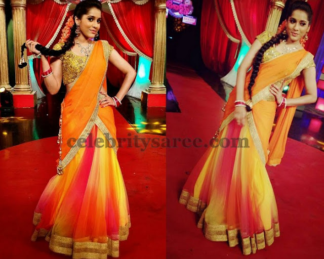 Reshmi in Dual Color Half Saree