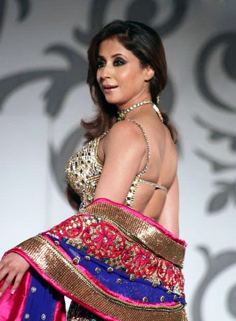 urmila matondkar saree back