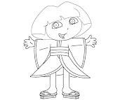 #10 Dora Coloring Page