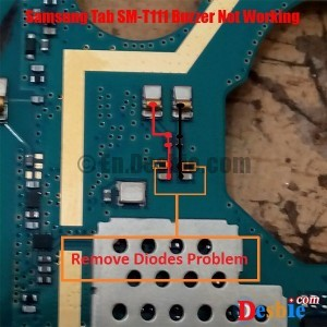 Samsung Tab 3 SM-T111 Ringer Problem solution diagram