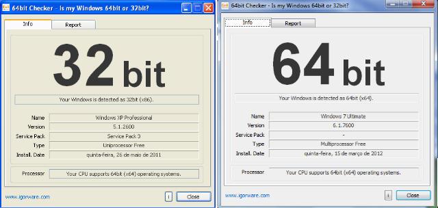 Inform tica para locos diferencia entre 32 y 64 bits for Window 64 or 32