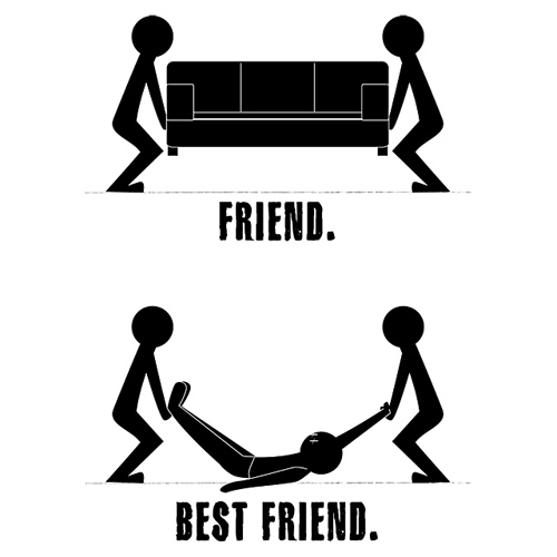 Funny Quotes About Best Friends vs Friends