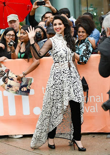 Bollywood Actress Parineeti Chopra Pictures in Stylish Dress at Toronto International Film Festival  0002