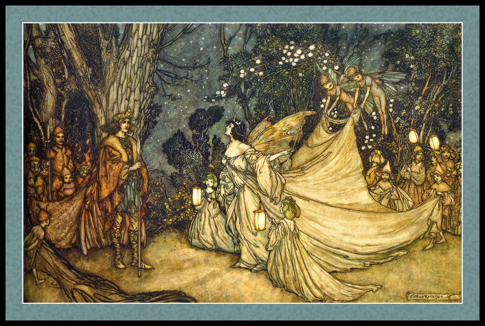 Arthur rackham art schools arthurrackham illustration children midsummer night dreams - The hideout in the woods an artists dream ...