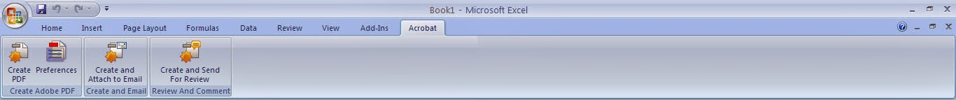 Tutorial Excel 2007 : Fungsi Menu Acrobat dan Add in
