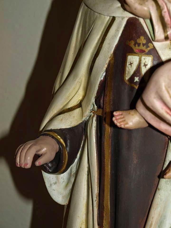 restauracion Virgen del Carmen despues