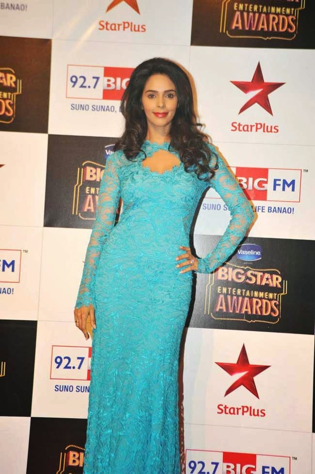 Mallika At BIG STAR Entertainment Awards 2014