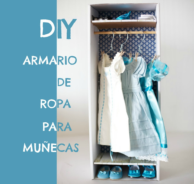 Armario de ropa para muñecas DIY
