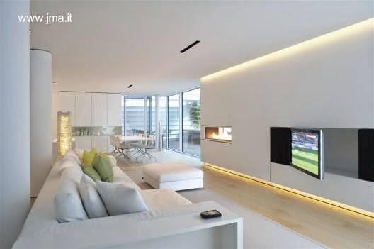 Sala de estar en el interior de la Casa Dolomite