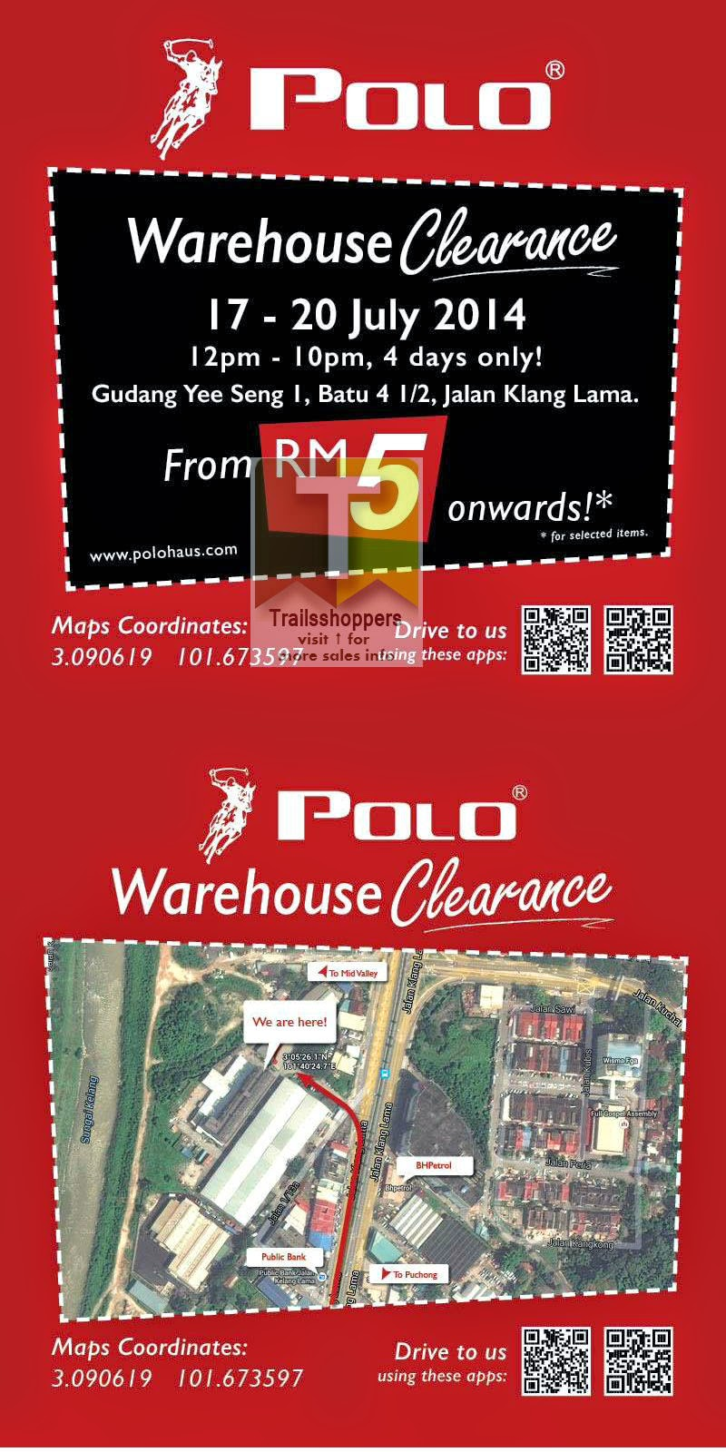 Polo Haus Warehouse Clearance Sale 2014 offers
