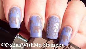 e.l.f., elf, lavenderpolish, wetnwild, wetcement, elephants, Nailart, stamping, Stampednails, stampednailart, stampnailart, nailstamping
