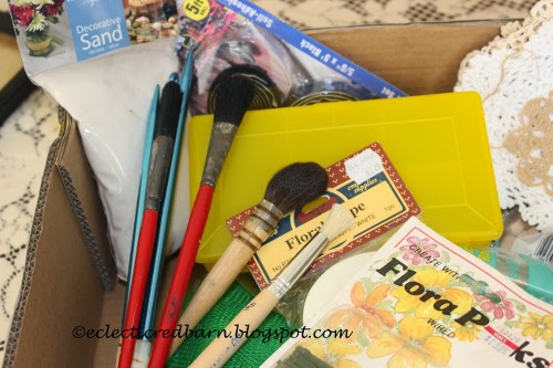 Eclectic Red Barn: Dollar box contents -paint brushes