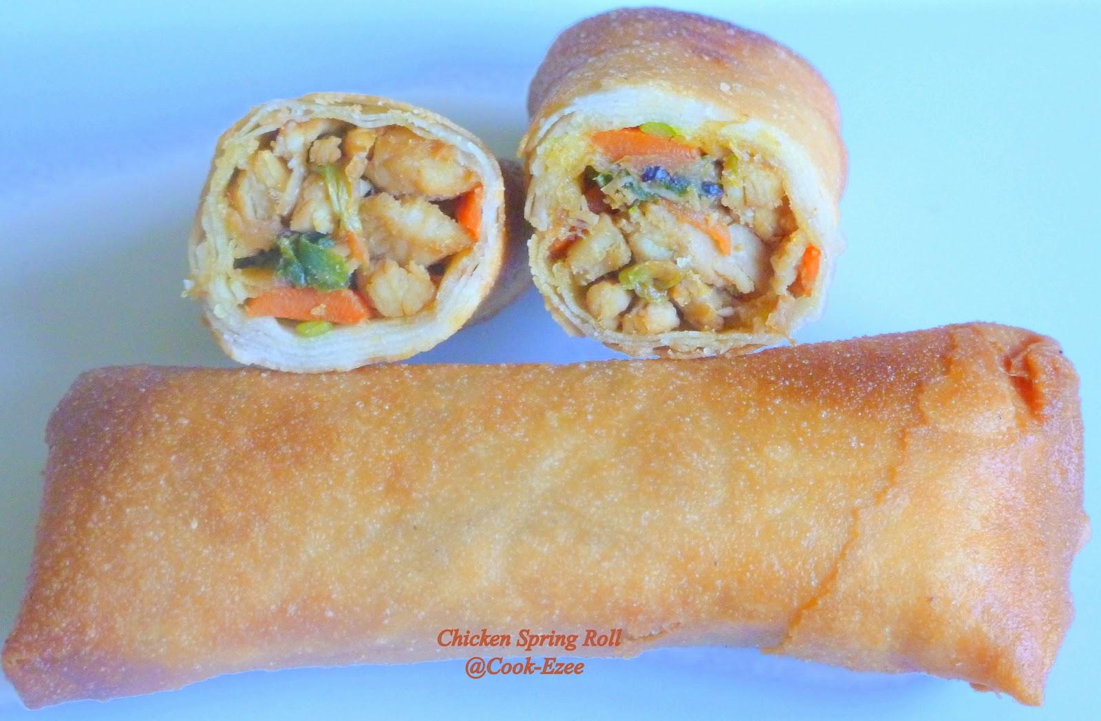 COOK-EZEE: Chicken Spring Rolls/Chinese Spring Rolls