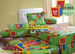 Harga Sprei My Love Duo Toy Box Jual