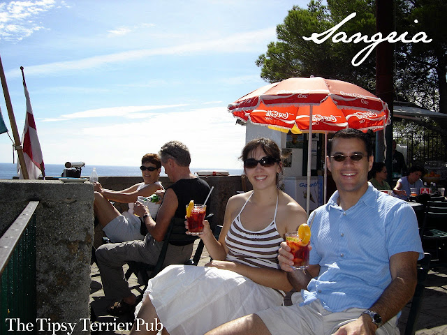 Enjoying a sangria in Portofino, Italy - tipsyterrier.blogspot.com