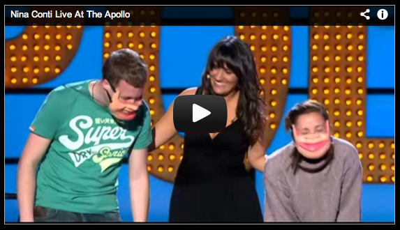 ventriloquist Nina Conti uses humans as dummies, amusing and humorous