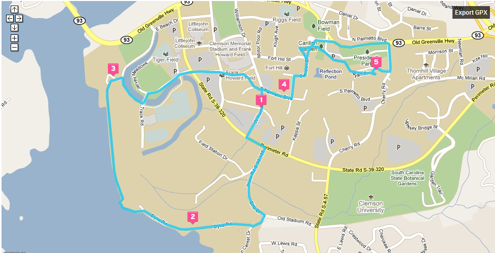 Turn Right In The Sc Botanical Gardens Where Parking Is Available To Public Map