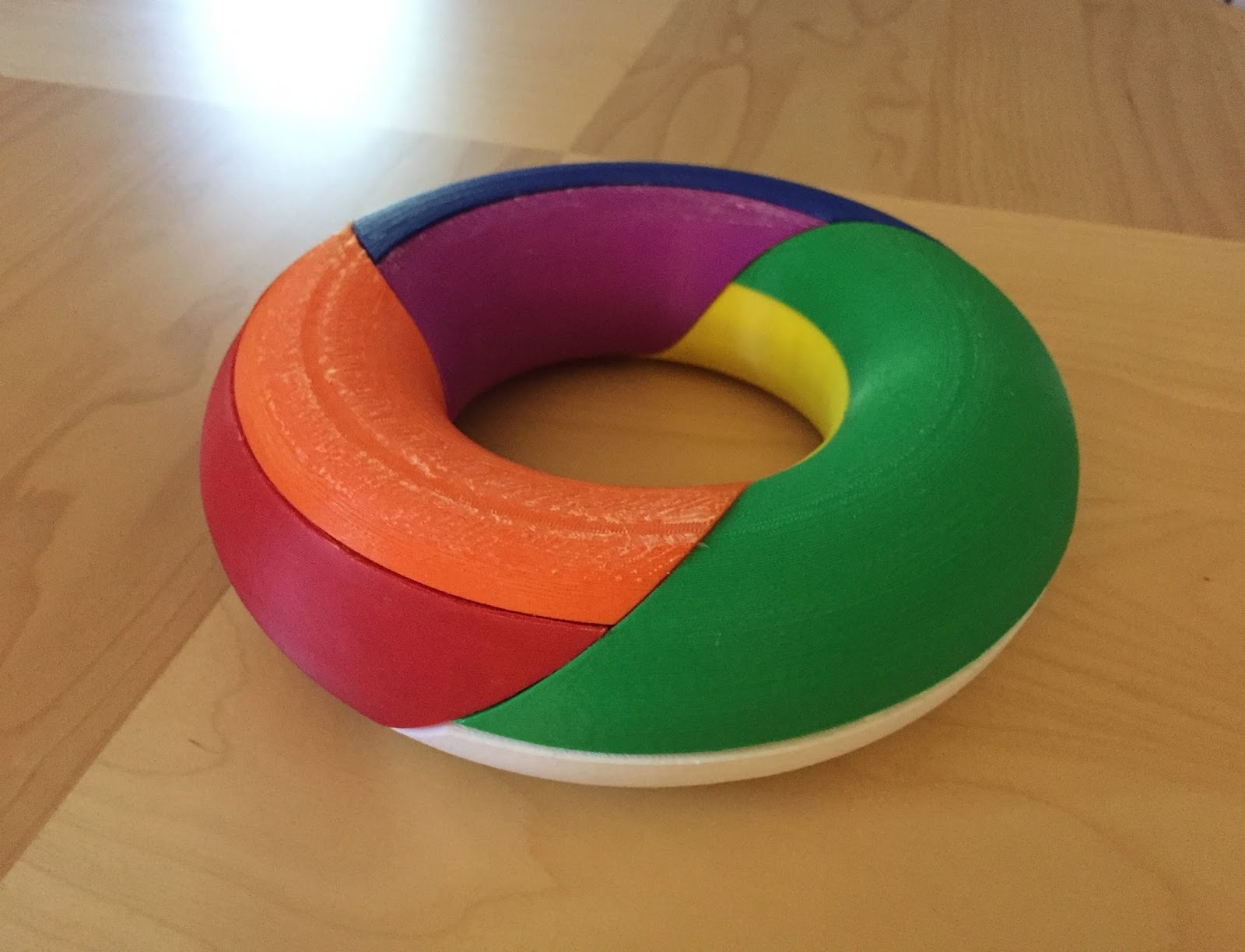 torus model http www thingiverse com thing 721430 by bonyjordan scaled up for classroom use original is half this size note this map coloring