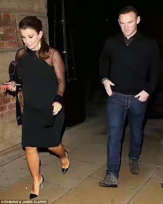 WAYNE ROONEY AND COLEEN AT MANCHESTER UNITED CHRISTMAS PARTY