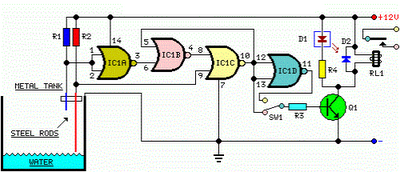 Automatic Water Pump Controller Circuit Diagram